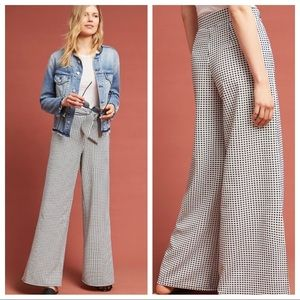 🆕NWT Anthropologie Tie Waist Wide Leg Trousers